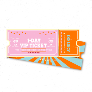 1-day VIP ticket for customers and resellers